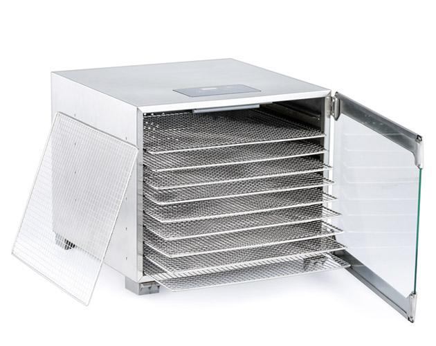 BioChef Kalahari dehydrator machine stainless steel trays